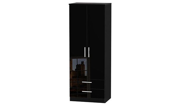 TALL 2ft6in 2 DRAWER ROBE